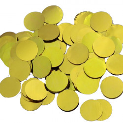 GOLD 25MM ROUND METALLIC CONFETTI 100G
