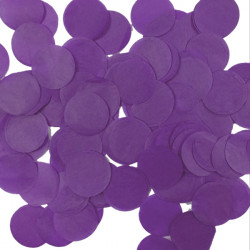 PURPLE 25MM ROUND PAPER CONFETTI 100G