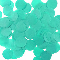 TURQUOISE 15MM ROUND PAPER CONFETTI 100G
