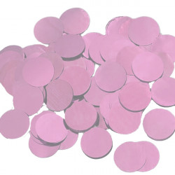 LIGHT PINK 25MM ROUND METALLIC CONFETTI 100G