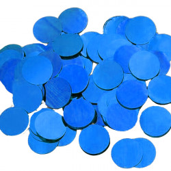 BLUE 25MM ROUND METALLIC CONFETTI 100G