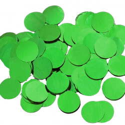 GREEN 25MM ROUND METALLIC CONFETTI 100G