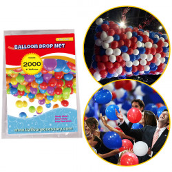 "2000 BALLOON DROP NET (HOLDS 2000 9"" BALLOONS)"