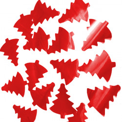 * RED 35MM CHRISTMAS TREE METALLIC CONFETTI 100G