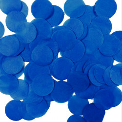 NAVY BLUE 32MM ROUND PAPER CONFETTI 100G
