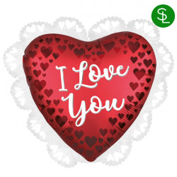 SANGRIA SATIN LOVE YOU INTRICATES SHAPE P31 PKT
