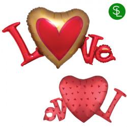 LOVE SATIN SHAPE P35 PKT