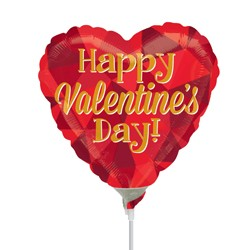 """GOLD VALENTINE'S DAY 9"""" A15 FLAT"""