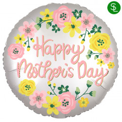SPRING FLORAL SATIN HAPPY MOTHER'S DAY JUMBO P32 PKT