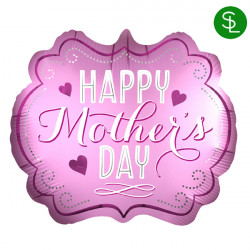 MARQUEE SATIN HAPPY MOTHER'S DAY SHAPE P35 PKT