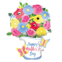 PITCHER GARLAND MOTHER'S DAY MULTI-BALLOON P45 PKT