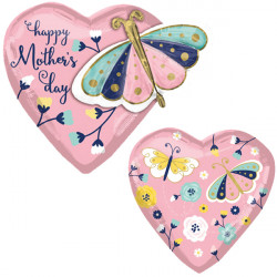 BUTTERFLY & HEART MOTHER'S DAY MULTI-BALLOON P45 PKT