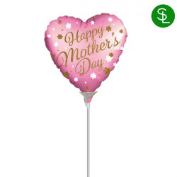 "MOTHER'S DAY SATIN 9"" A15 INFLATED WITH CUP & STICK"