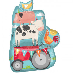 BARNYARD PARTY SHAPE P35 PKT