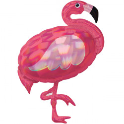 FLAMINGO PINK IRIDESCENT SHAPE P40 PKT