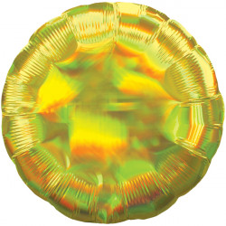 YELLOW IRIDESCENT ROUND STANDARD HOLOGRAPHIC S40 FLAT A