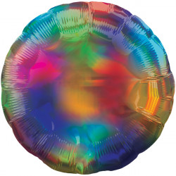 RAINBOW IRIDESCENT ROUND STANDARD HOLOGRAPHIC S40 FLAT A