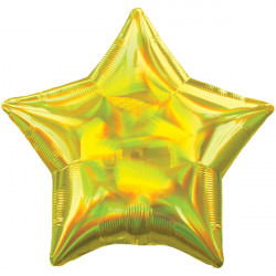 YELLOW IRIDESCENT STAR STANDARD HOLOGRAPHIC S40 FLAT A