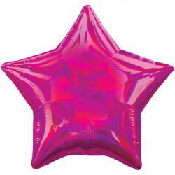 MAGENTA IRIDESCENT STAR STANDARD HOLOGRAPHIC S40 FLAT A