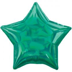 GREEN IRIDESCENT STAR STANDARD HOLOGRAPHIC S40 FLAT A