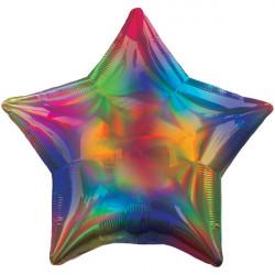 RAINBOW IRIDESCENT STAR STANDARD HOLOGRAPHIC S40 FLAT A