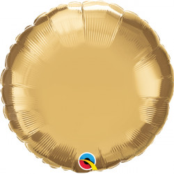 "GOLD CHROME ROUND 18"" FLAT Q"
