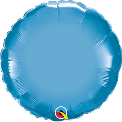 "BLUE CHROME ROUND 18"" FLAT Q"