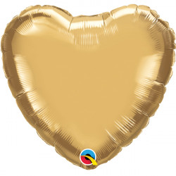 "GOLD CHROME HEART 18"" FLAT Q HJ"