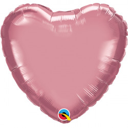 "MAUVE CHROME HEART 18"" FLAT Q"