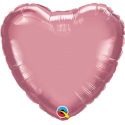"MAUVE CHROME HEART 18"" FLAT Q HJ"
