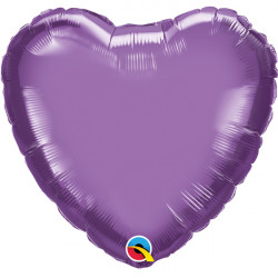 "PURPLE CHROME HEART 18"" FLAT Q"