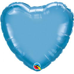 "BLUE CHROME HEART 18"" FLAT Q"