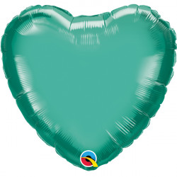 "GREEN CHROME HEART 18"" FLAT Q"