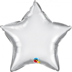 "SILVER CHROME STAR 20"" FLAT Q"