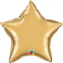 "GOLD CHROME STAR 20"" FLAT Q"