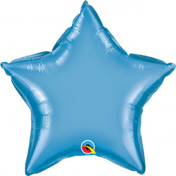 "BLUE CHROME STAR 20"" FLAT Q"