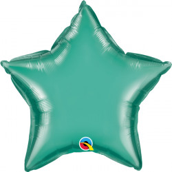 "GREEN CHROME STAR 20"" FLAT Q"
