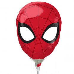 SPIDER-MAN HEAD MINI SHAPE A30 INFLATED WITH CUP & STICK