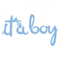 "IT'S A BOY PASTEL BLUE SCRIPT PHRASE SHAPE G50 PKT ('IT'S A' 27"" x 20"" / 'BOY' 29"" x 32"")"