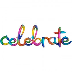 CELEBRATE RAINBOW SPLASH SCRIPT PHRASE SHAPE G50 PKT
