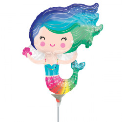 MERMAID HAPPY MINI SHAPE A30 INFLATED WITH CUP & STICK
