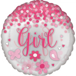 "CONFETTI BABY GIRL JUMBO P45 PKT (28"" x 28"")"