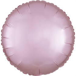 PASTEL PINK SATIN LUXE ROUND STANDARD S15 FLAT A