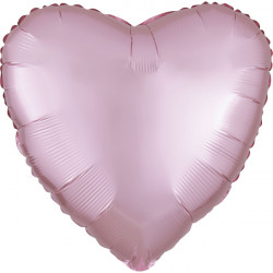 PASTEL PINK SATIN LUXE HEART STANDARD S15 FLAT A