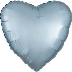 PASTEL BLUE SATIN LUXE HEART STANDARD S15 FLAT A