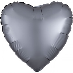 GRAPHITE SATIN LUXE HEART STANDARD S15 FLAT A