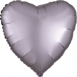 GREIGE SATIN LUXE HEART STANDARD S15 FLAT A