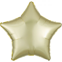 PASTEL YELLOW SATIN LUXE STAR STANDARD S15 FLAT A