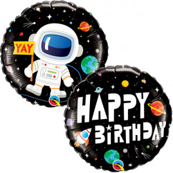 "ASTRONAUT BIRTHDAY 18"" PKT"