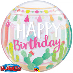 "LLAMA PARTY BIRTHDAY 22"" SINGLE BUBBLE"